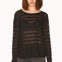 Daring Shadow Stripe Top