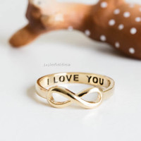 I love you infinity rings,love rings,couple rings,i love you,wedding rings,engagement rings,eternity rings,jewelry rings,graduation rings