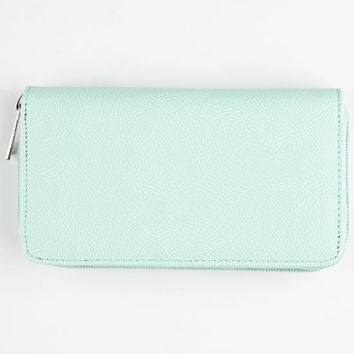 Solid Zip Around Wallet Mint One Size For Women 25123852301