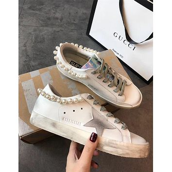 Golden Goose Deluxe Brand / GGDB Hi Star Sneakers With Pearls