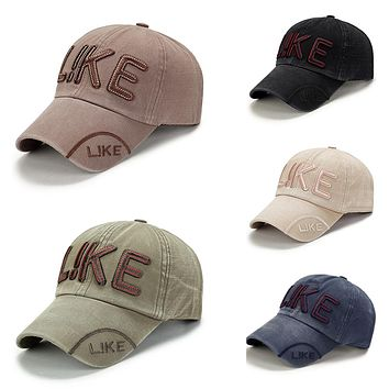 Men's Fashion Letter Print Baseball Cap Adjustable Peaked Snapback Sports Hat