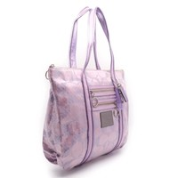 Coach PVC Shoulder Bag Purple 0875