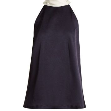 Tie-neck crepe-back satin top | Galvan | MATCHESFASHION.COM UK