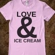 Supermarket: Love And Ice Cream T-Shirt from Glamfoxx Shirts