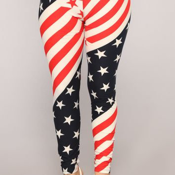 Power And Glory Print Leggings - MultiColor