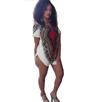 Attractive 2016 New Trendy Women Traditional Tribal African Dashiki Party Hippie Dress High Quality May 3