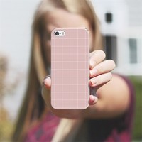 White Grid on Pale Pink iPhone 6 Plus case by Pencil Me In | Casetify