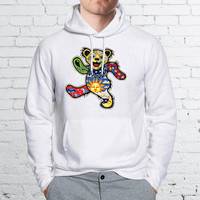 Coloured Grateful Dead Dancing Bear Unisex Hoodies - ZZ Hoodie