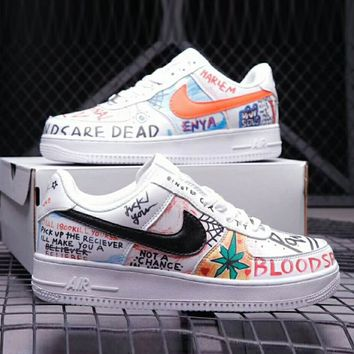 NIKE AIR FORCE 1 New Fashion Graffiti Women Men Personality Sport Running Shoe Lovers Sneakers I-TTPP-YDX