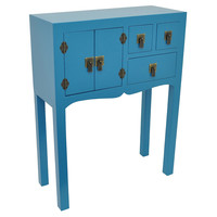 Alexis Chinoiserie Cabinet, Lapis, Cabinets & Hutches