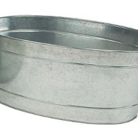 Achla Designs C-55 Large Oval Galvanized Steel Tub