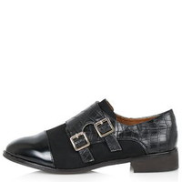 FLEETING Monk Shoes - Black
