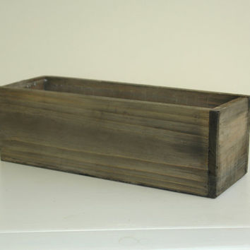 wood box woodland planter flower box rustic pot vases for wedding wooden boxes rustic chic wedding garden party