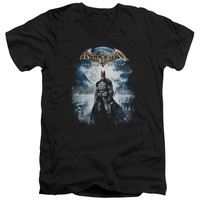 BATMAN AA/GAME COVER - S/S ADULT V-NECK - BLACK -