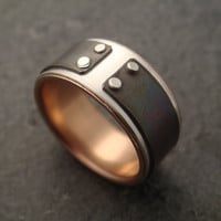 14k Rose Gold Lined Mind The Gap Ring