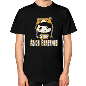 STEP ASIDE PEASANTS Unisex T-Shirt (on man)