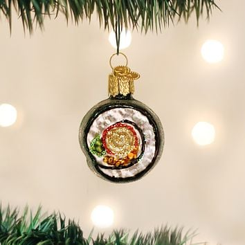 Old World Christmas Handcrafted Blown Glass Ornament -- Sushi Roll