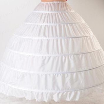 New 6 Hoops Petticoats Bustle for Ball Gown Wedding Dresses Underskirt Bridal Accessories Bridal Crinolines