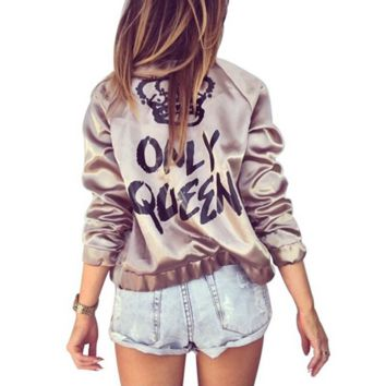 Printed Jacket Stand Collar Long Sleeve Zip Jacket B0013945