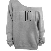 Mean Girl Gray Slouchy Oversized CREW Sweater - Fetch