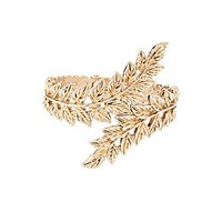 LEAF FILIGREE CUFF BRACELET