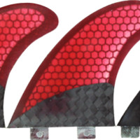 Kinetik X2 Twin Fin Carbo Tune Fcs Red/Black W/Stablizr