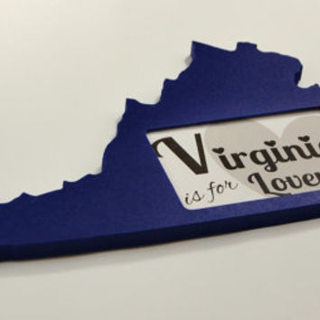 Virginia state shaped picture frame 4x6 by @PineconeHome