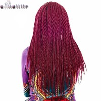 S-noilite Strands 24inch Senegalese Twist Crochet Hair Braids hair Extensions 330g Kanekalon Fiber Braiding Hair Synthetic