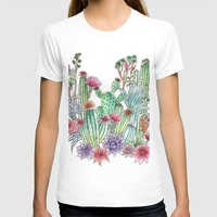 Cactus garden T-shirt by juliagrifoldesigns