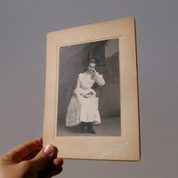 Confirmation Sitting / Antique Cabinet Card