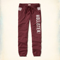 Girls Hollister Logo Graphic Banded Sweatpants | Girls Bottoms | HollisterCo.com
