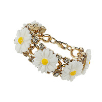 Daisy and Rhinestone Bracelet - New In This Week  - New In