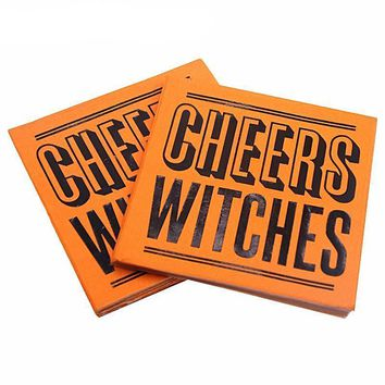 Cheers Witches Halloween Party Printed Napkins