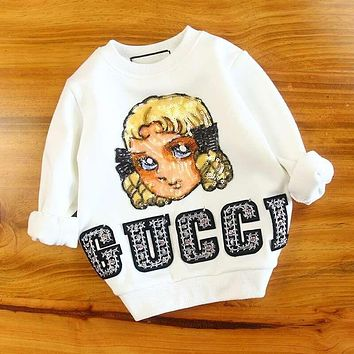 Gucci Girls Boys Children Baby Toddler Kids Child Fashion Casual Top Sweater Pullover