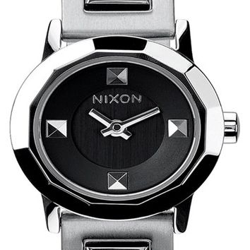 Women's Nixon 'Mini B' Bracelet Watch, 22mm - Silver/ Black