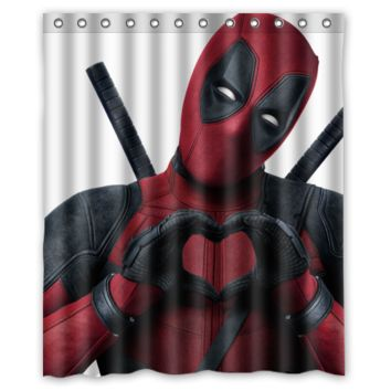 Deadpool Love Shower Curtain Bathroom