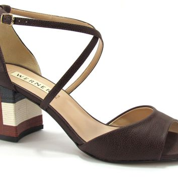 Sandal Block Heel Coffee - Werner