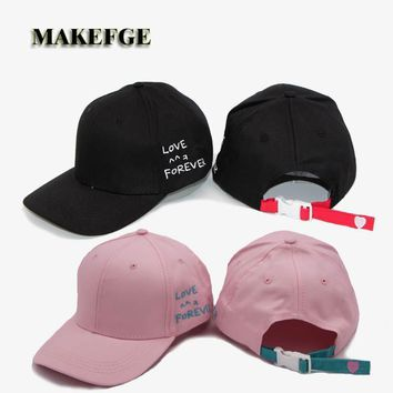 LOVE FOREVER Cotton Hand ROSE OK Love Gestures Finger Snapback Hats Baseball Caps For