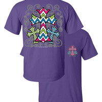 Southern Couture Chevron 3 Cross Christian Girlie Bright T Shirt