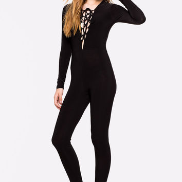 Lara Lace Up Catsuit