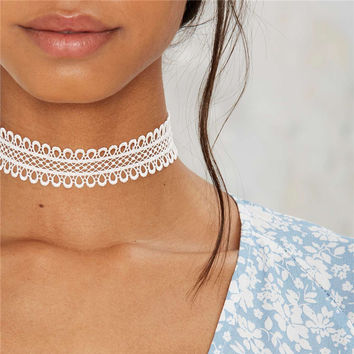 Fashion jewelry fashion  cool cloth Lace Tattoo choker necklace  Valentine's Day present lovgift for women girl N2003