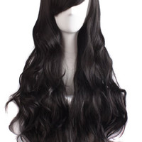 Charming Women's Long Curly Full Hair Wig (Black
