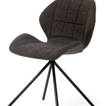 Tilda Fabric Swivel Chair Black Legs, Web Gray (Set of 2)