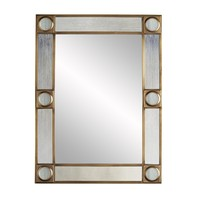Baldwin Antique Brass Mirror