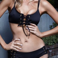 Swimsuit Summer Beach Hot Sexy New Arrival Swimwear Black Bikini [8678839565]