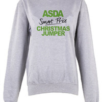 Asda Smart price Christmas Jumper unisex Crew neck sweatshirt hoodie pullover | eBay