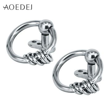 ac DCCKO2Q AOEDEJ 2017 New Circle Dermal Piercing Anchors Stainless Steel Double Hoop Punk Surface Retainers Hide It Jewelry Body Jewelry