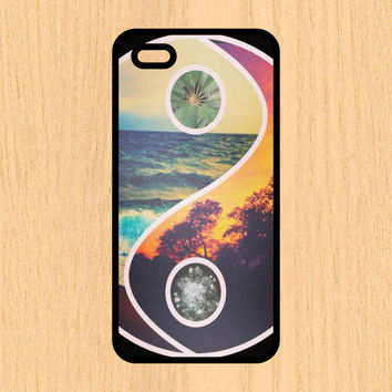 Rasta Beach Yin Yang Art Print Cell Phone Case iPhone 4/4s 5/5c 6/6+ Case and Samsung Galaxy S3/S4/S5