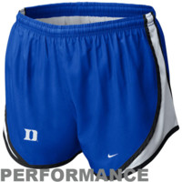 Nike Duke Blue Devils Womens Tempo Performance Shorts - Royal Blue