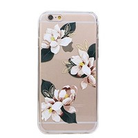 iPhone 6 Clear Case,Floral TPU+PC Clear Fitted Back Cover Case for Apple iPhone 6/iPhone 6S 4.7 inch (Clear Flower 01)